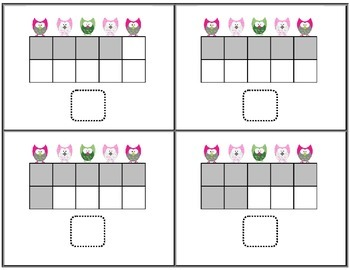 Owl Ten Frames Activities, Worksheets and Homework