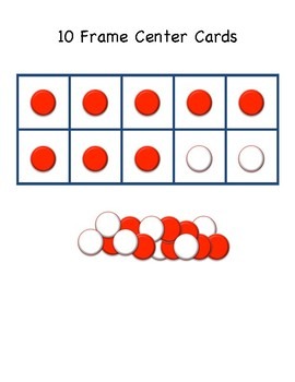 10 Frame Center Addition Cards and Addition Problems