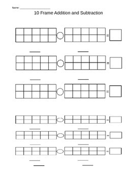 10 Frame Addition and Subtraction