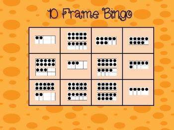 10 Frame Bingo- Numbers 0-20