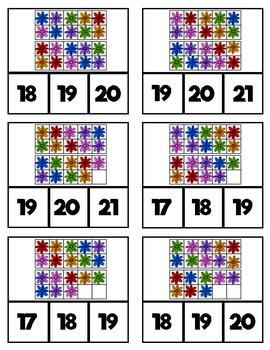 10 Frame Clip Cards: Flowers