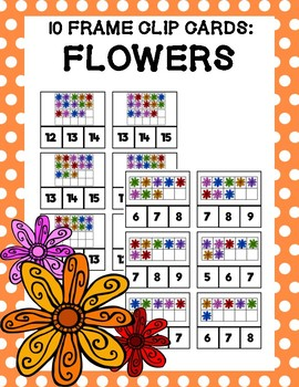 10 Frame Clip Cards: Flowers