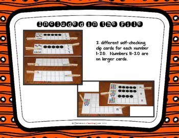 10 Frame Clip Cards for Centers or Independent Practice