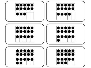 10 Frame Counting printable Flashcards. Math flashcards.