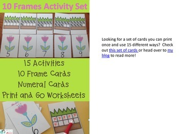 10 Frame Cut and Glue Activity