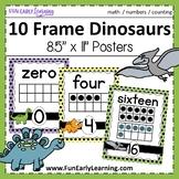 10 Frame Dinosaur Number Posters