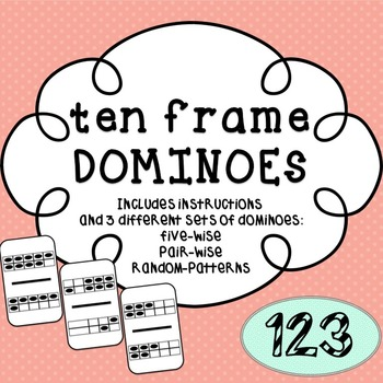 10 Frame Dominoes - {Print & Cut}