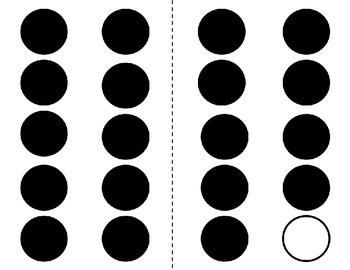 Black Ink Only 10 Frame Dot Cards