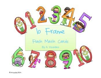 10 Frame Flash Cards Large