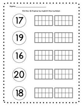 10-Frame Fun  Activities for K.CC.4 and 5