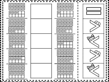 10 Frame Greater Gator Cut and Paste 11-20 [3 activities]
