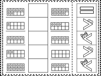 10 Frame Greater Gator Cut and Paste Freebie!