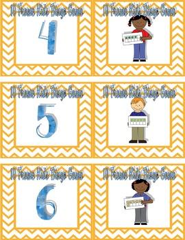 10 Frame Kids Number Bingo Game