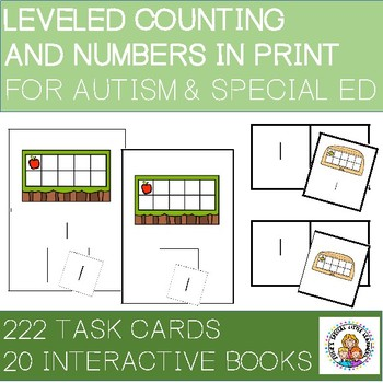 COUNTING AND NUMBERS IN PRINT BUNDLE 2 FOR AUTISM