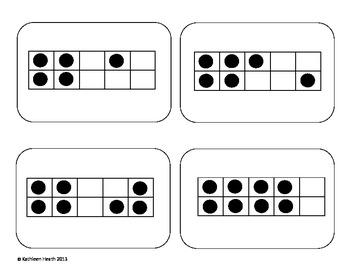 10 Frame Matching Cards Set 1-4