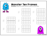 10 Frame Matching - Monster Theme