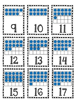 10-Frame Number Cards 0-20