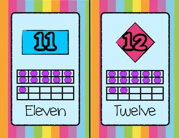 10 Frame Number Cards (1 to 20)