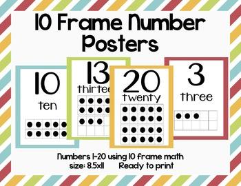 10 Frame Number Poster Printables-8.5x11