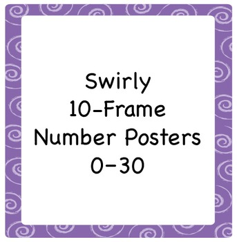 10-Frame Number Poster Set with Swirl Border, 1–30