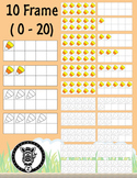 10 Frame Pack Fall Candy Corn Theme!- Commercial Use OK!