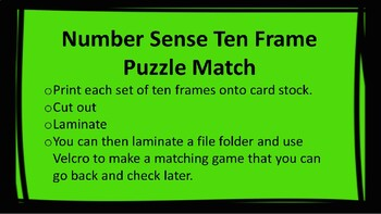10 Frame Puzzle Match