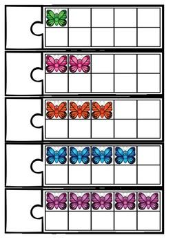 10 Frame Puzzles: Butterflies
