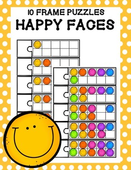10 Frame Puzzles - Happy Faces