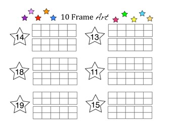10 Frame Qtip Art   #'s11-19