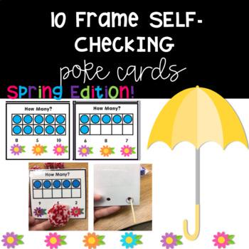 10-Frame Self- Checking Poke Cards FREE! (Spring Edition)