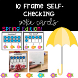 10-Frame Self- Checking Poke Cards FREE! (Spring Edition)