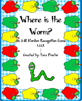 Where is the Worm Number Recognition Game FREEBIE