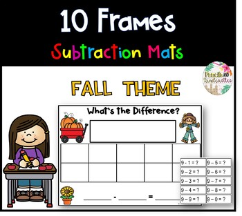 10 Frame Subtraction Mats (Fall Theme)