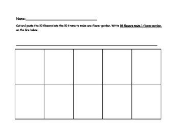 10 Frame Worksheet