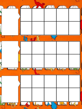 10 Frame for calendar time (Dr. Seuss, Lorax)