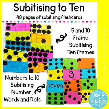 10 Frame subitizing cards