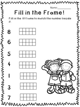10 Frames- 4 Printable Activities!
