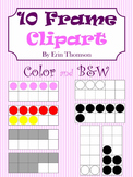 10 Frame Clipart ~ Color and Black & White