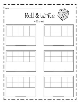 10 Frames - Dice Roll and Write