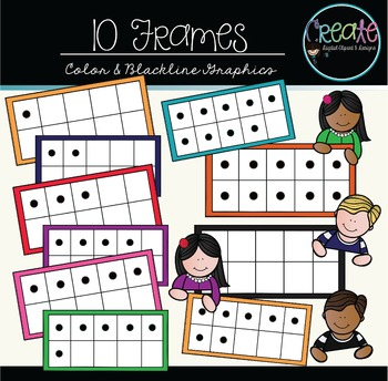 10 Frames - Digital Clipart