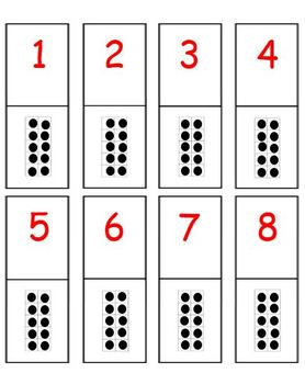 10 Frames Dominoes - Number Recognition and Concepts of Number