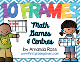 10 Frames: Math Centres & Partner Games {Editable Text}