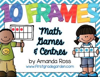 10 Frames: Math Centres & Partner Games {Editable Text}