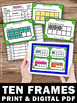 Ten Frames Task Cards, Missing Addends, Kindergarten 1st Grade Math Review