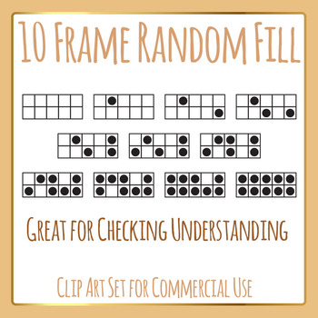10 Frames Random Fill Template Set Clip Art Pack for Commercial Use