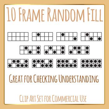 10 Frames Random Fill Template Set Clip Art Pack for Comme