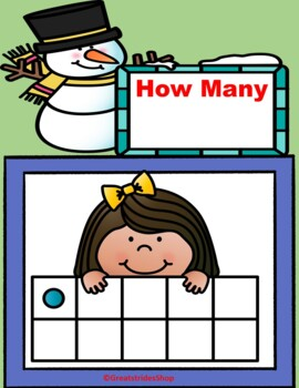 10 Frames Winter  Counting Activity   PRE-K