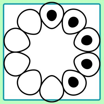 10 Frames with Blank Center / Ten Frame Flowers with Copy Space Math Clip Art