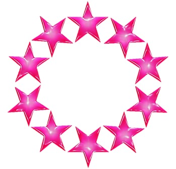 10 Free Colorful Round Star Borders for Commercial & Personal Use!