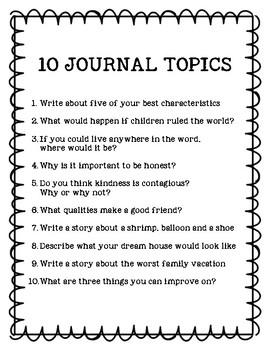10 Free Journal Topics